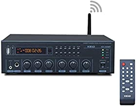 KEiiD WiFi & Bluetooth 5.0 Stereo Digital Amplifier Receiver for Home Audio BGM Music System, MUZO App Control Multi-Room Sync, Compact with FM Radio/USB/TF/AUX/Mic, Remote Control with Sleep Timer