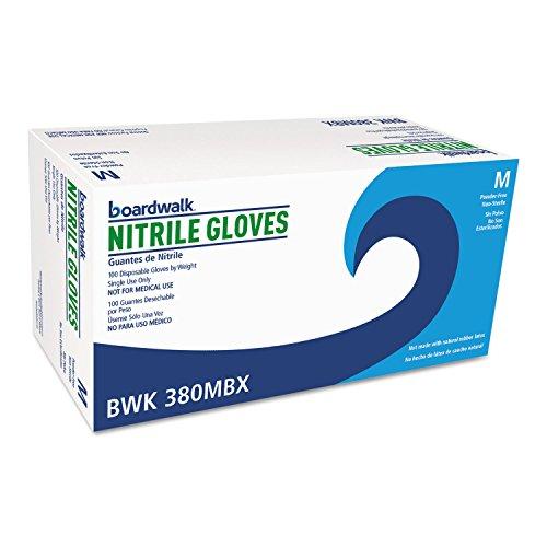 Boardwalk 380MCT Disposable General-Purpose Nitrile Gloves Medium Blue 4 mil 1000/Carton