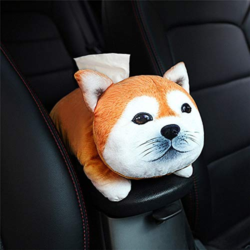 Best Quality - Home Office Storage - warm home office supplies desk accessories organization office storage cute pet cartoon car armrest box tissue box car with tray - by Rocco - 1 PCs