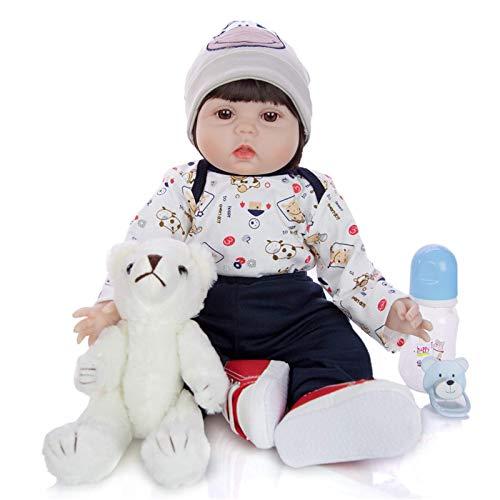 XYSQWZ Muñeca De Simulación Bebé Reborn Linda Muñeca De Simulación Carnosa Muñeca para Jugar A Las Casitas 22 Pulgadas / 55 Cm Navidad Halloween Regalo De Cumpleaños 1214