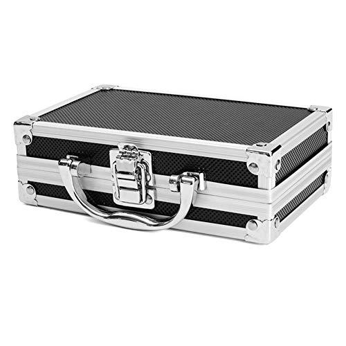 RoSoy - Caja de Transporte de Aluminio portátil Caja de Herramientas Organizador de Almacenamiento Portaherramientas de Viaje