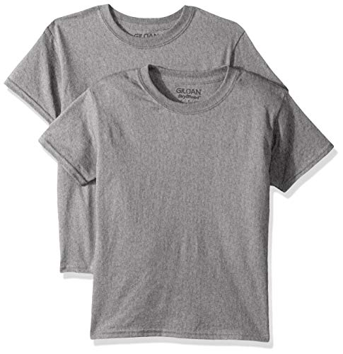 Gildan Kids DryBlend Youth T-Shirt, 2-Pack, Graphite Heather, X-Large