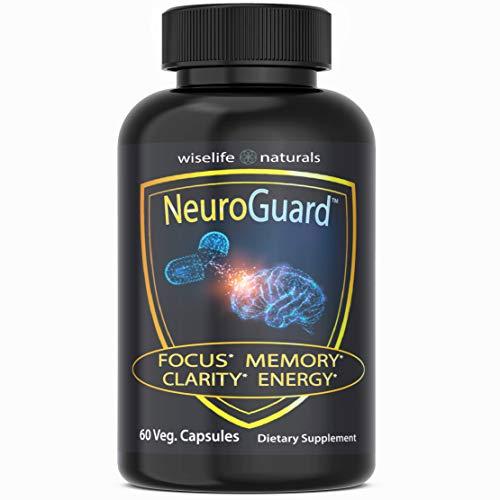 Energy Pills Brain Supplement: Pre Workout Stimulant, Focus Supplement Brain Boost Memory Supplement for Brain, Mood Boost Memory Pills Best Anti Anxiety Supplements Organic Nootropic Nerve Tonic 60ct
