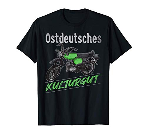 """Ostdeutsches Kulturgut\"" Enduro Moped s51 Design Simme T-Shirt"
