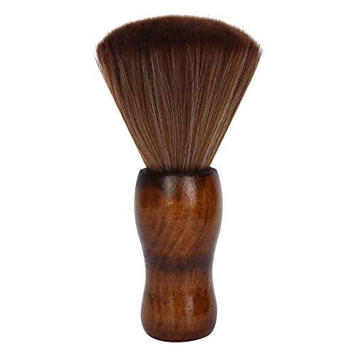 Barber Neck Duster Brush, professionelle Barber Reinigungsbürste, weiche Haarschneidebürste, Face Duster Brush, mit Holzgriff für Friseursalon und Heimgebrauch