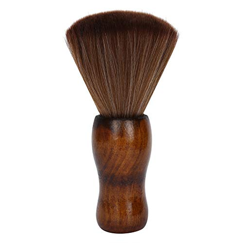 Cepillo para plumero de barbero, cepillo de limpieza profesional para peluquero,cepillo suave para cortar el cabello, cepillo para plumero facial,con de madera para peluquería y uso doméstico