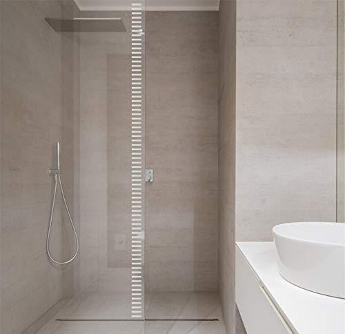 H421ld Pegatinas de salpicadero para visibilidad de cristal, 2,3 m de longitud total de vinilo para heladas, marcadores geométricos de distracción de estilo minimalista