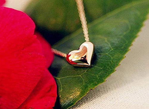 Sangool Copper Heart Necklace Women, Charm Cute Pendant Valentine Gift Jewelry,Special Necklace for Lady (Heart (Gold))