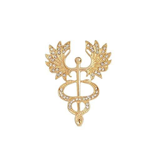 BBLLBroche Pin médico de Metal Doctor Insignia Tubo de ensayo Martillo Reflejo...