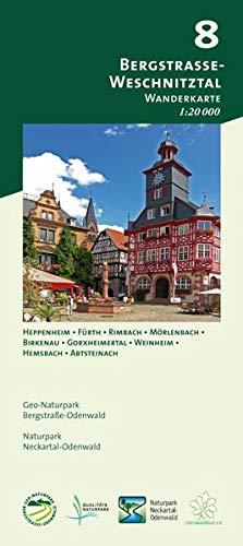 Blatt 8, Bergstraße-Weschnitztal: Wanderkarte 1:20.000. Mit Heppenheim, Fürth, Rimbach, Mörlenbach, Birkenau, Gorxheimertal, Weinheim, Hemsbach, ... und Naturpark Neckartal-Odenwald)
