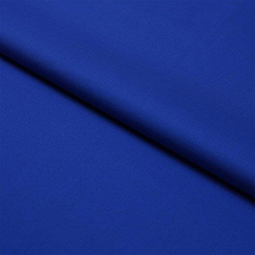 Hans-Textil-Shop Stoff Meterware Blau Baumwolle Linon (Einfarbig, Uni, Schadstoffgeprüft, Pflegeleicht, ca 140 g/qm, ca. 145 cm breit, 1 Meter)