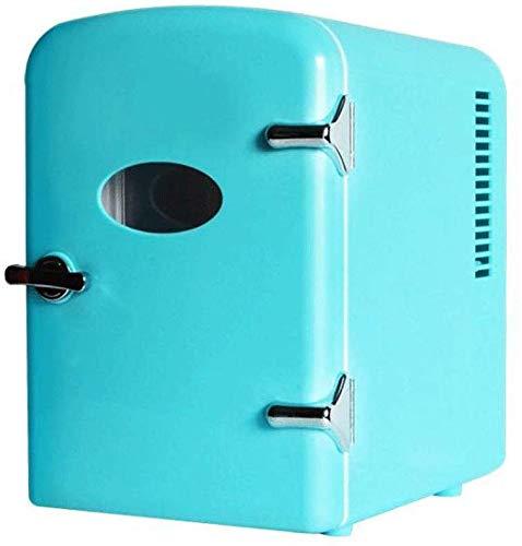 dljyy Koelbox, mini-koelkast, 4 liter, compact, beweegbaar en rustig, AC + DC-stroom, compatibiliteit
