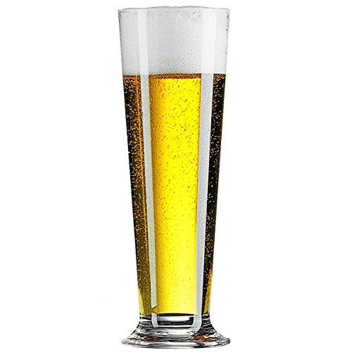 Linz Highball Gläser, 390ml/368,5Set 6Stück | 39cl, Bierglas, Pilsner Gläser, übergroße Half Pint Gläser, Linz Highball-Gläser.
