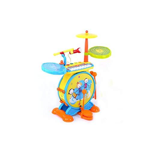MKJYDM Kinder Schlagzeug Spielzeug Elektronische Tastatur Schlagen Musikinstrument Trommel 3-6 Jahre Alt, Um Mikrofon Musik Spielzeug 25.5x64x66.5cm Zu Senden Intelligentes Spielzeug für Kinder