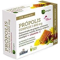 Própolis complex 1.600 mg 60 cápsulas con echinácea, malvavisco, tomillo, drosera, vitamina C, eucalipto y orégano.