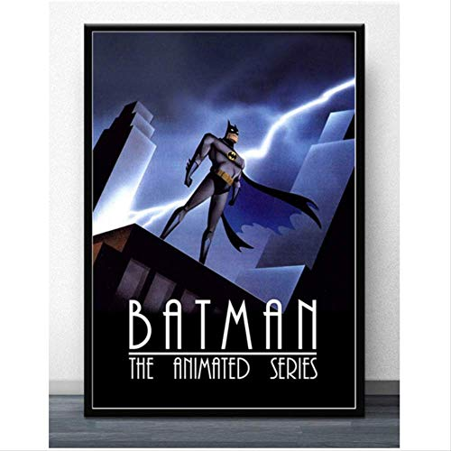 baiyinlongshop Leinwand Malerei Film Poster Kunst Leinwand Batman Zeichentrickserie Joker Lachender Fisch Comic Serie Home Room Wanddruck Dekor 40x60cm Ohne Rahmen