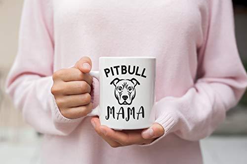 Pitbull Mama Tasse 325 ml Pitbull Mom Mug Hund Mom Pitbull Kaffeetasse Hund Mom Tasse Keramik weiß 325 ml Kaffeetasse Bully Mom Mug Kaffeetasse Kaffeetasse