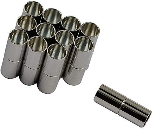 NOBRAND 12 sets van 5mm magnetische klemmen voor het maken van sieraden, Kumihimo eindkappen, leren kettingen, armbanden