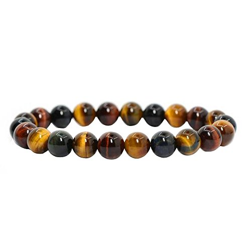 Contever® 8mm Gemstone Beads Pierre Nat Tiger Eye Bracelet Bangle