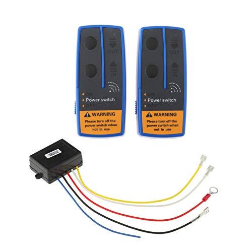 Shiwaki 2x Kit de Control remoto inalámbrico eléctrico de cabrestante 12V interruptor de recuperación 500A para camión ATV SUV rango de Control: hasta