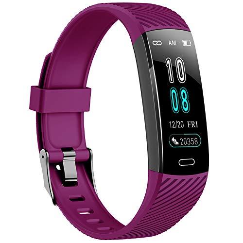 ASWEE Fitness Trackers – aktivitetsspårare klocka med puls blodtrycksmätare, vattentät klocka med sömnskärm, kalori stegräknare klocka för kvinnor män kompatibel Android iPhone