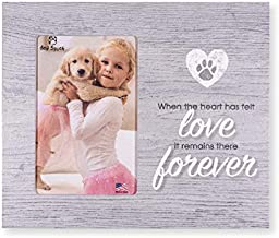 Dog Speak Pet Sympathy/Memorial Picture Frame, When The Heart has Felt Love.it Remains There Forever