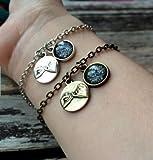 2 Pinky Promise Bracelets, Matching Bracelets, Dark Moon Bracelet, Best Friend Jewelry, BFF Bracelet, Pinky Swear Bracelet his Hers Bracelet