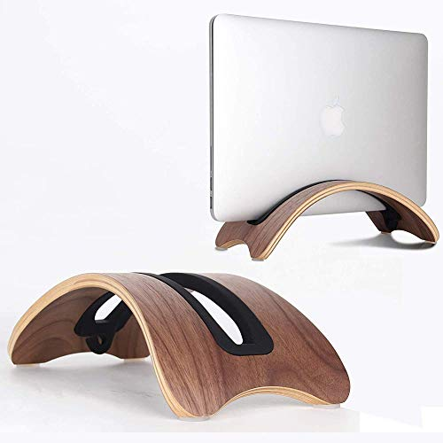 zyy Vertical Stand for Macbook Laptop, Laptop Stand for Notebook Stand, Bookarc Made of Wood of The Second Generation for Macbook And ASUS Laptops,Natural