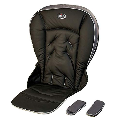 Replacement Parts for High Chair - Chicco Polly High Chair ~ Replacement Seat Cushion and Harness Shoulder Pads - Black