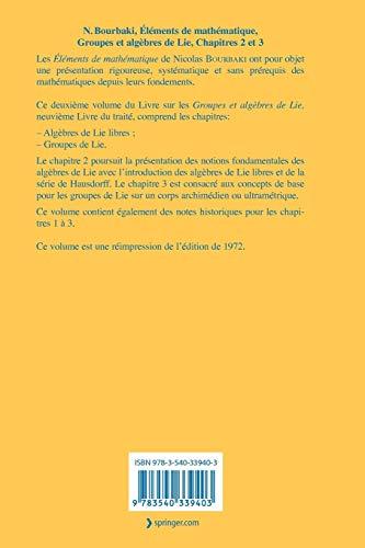 『Groupes et Algebres de Lie : Chapitres 2 et 3 (Elements de Mathematique)』の1枚目の画像