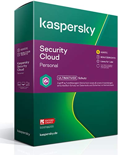 Kaspersky Security Cloud – Personal Edition | 5 Geräte | 1 Jahr | Windows/Mac/Android/iOS | Aktivierungscode in Standardverpackung