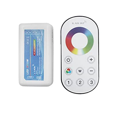JOYLIT Touch RGBW LED Controller, 2.4G RF Wireless DC 12V-24V, 4CHx4A 192W with Remote Control for RGBW LED Strip Light