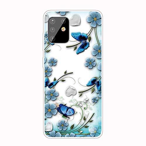 Nadoli Transparent Silikon Hülle für Samsung Galaxy Note 10 Lite,Durchsichtig Klar Lustig Kreativ Leicht Dünn Weiche Stoßfest Handyhülle Schutzhülle mit Gänseblümchen Muster
