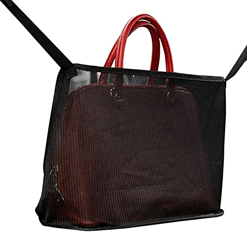 Autoaufbewahrungsbox Autositz Lagerung Mesh Organizer Sitzback Net Bag Beutel Taschen Mesh Handtasche Halter Pet Barrier für Handtasche Geldbörse Telefon Kleine Gegenstände ( Color : Simple black )