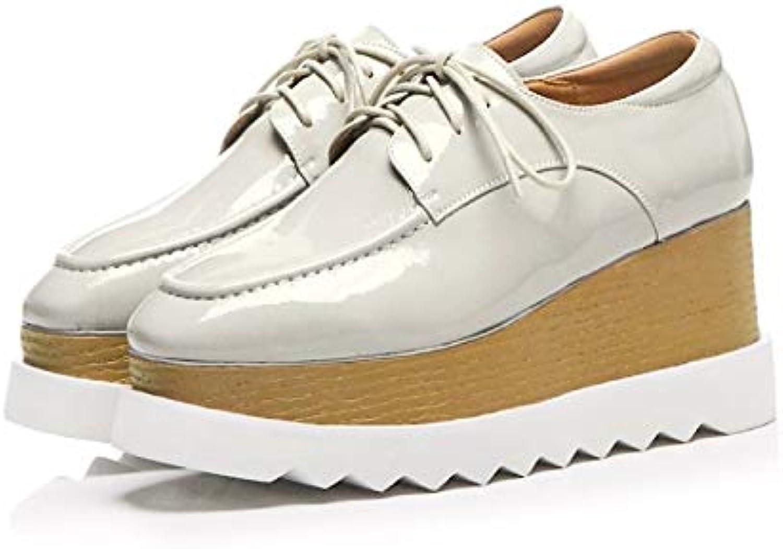 Women's Comfort shoes PU(Polyurethane) Fall Sneakers Creepers White Black