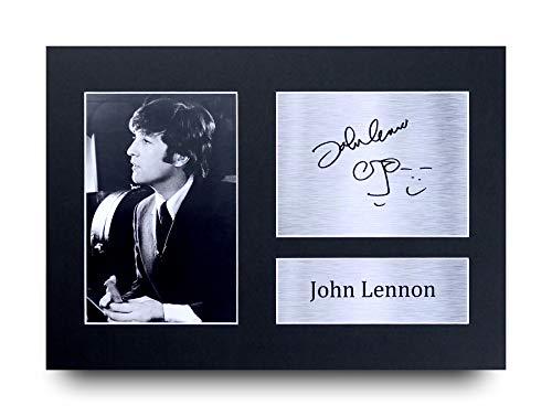 HWC Trading John Lennon - Fotografía firmada (tamaño A4), diseño de John Lennon