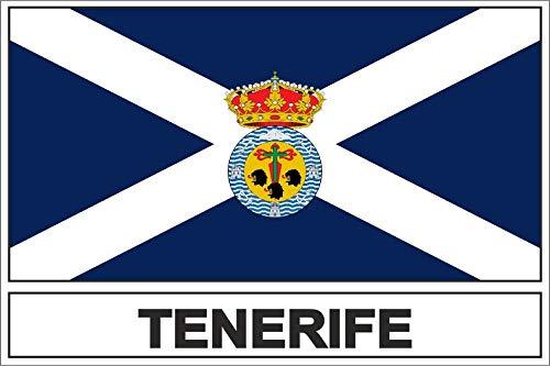 Akachafactory sticker vlag Tenerife