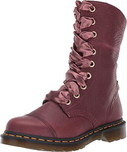 Dr. Martens 25001601 AiMilia Grizzly Boots, - Oxblood Grizzly - Größe: 43 EU