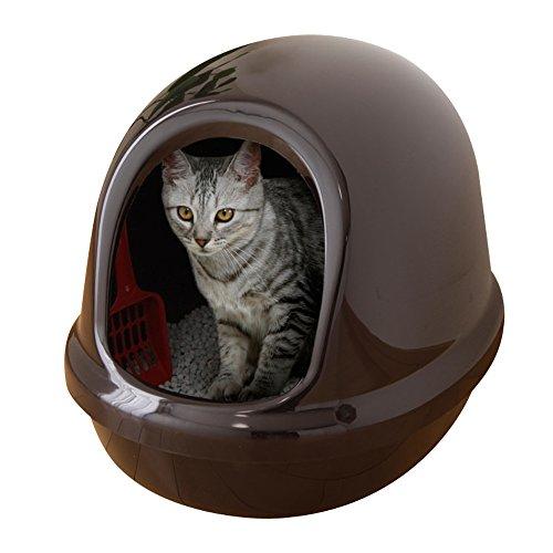 アイリスオーヤマ ネコのトイレ フルカバー (スコップ付き) くろ