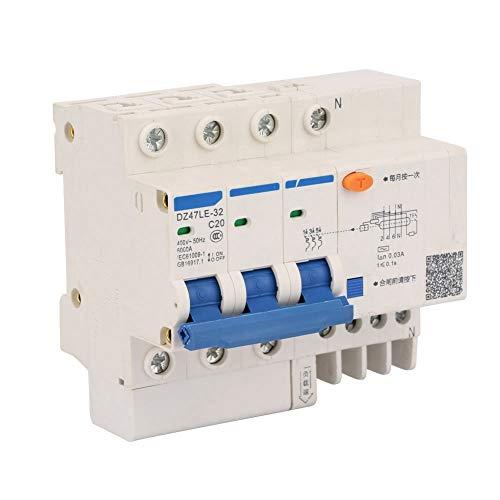 Leistungsschalter , Stromschutzschalter DZ47LE-32 3P + N C20 Leckschutzstromschutzschalter 400V 20A