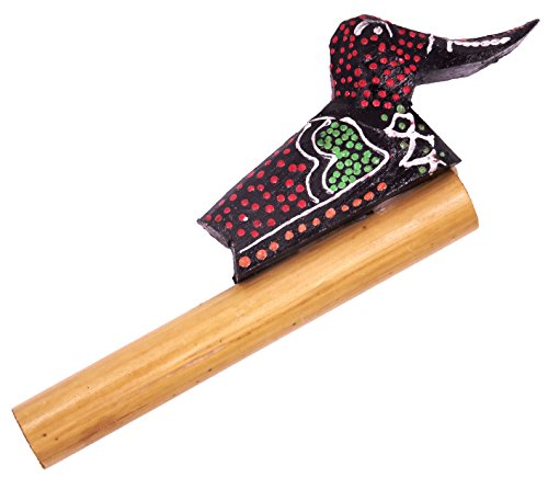 Fischietto appeau Uccello Anatra legno bambù artigianale Whistle Duck grido Canto suo