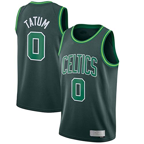 DODE Hombres Baloncesto Chalecos Uniforme Jayson Boston NO.0 Celtics Tatum 2020/21 Swingman Player Jersey Verde - Edición ganada