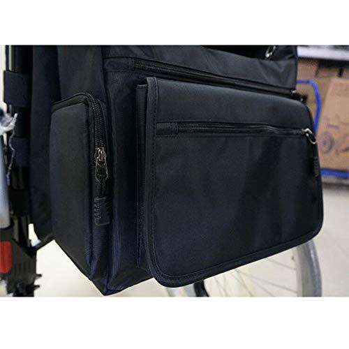 CANDYANA Rollstuhlrucksack Tasche Rollstuhl Und Walker Zubehör Seitliche Aufbewahrungstaschen Walker Mobilitätshilfen Wasserdichter Hängetasche Zubehör