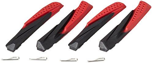 XLC Unisex-Erwachsene Bremsschuhe Ersatzbremsgummi BS-X02 4er Set 72 mm, Schwarz, Rot, Einheitsgröße