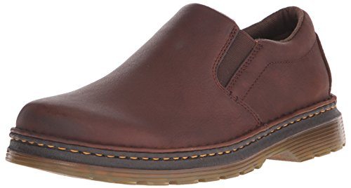Dr. Martens Men's Boyle Slip-On Loafer, Dark Brown Grizzly, 12