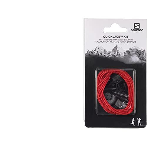 Salomon Quicklace Kit, Set di Lacci Per Scarpe, Semplifica la Calzata e Sfilamento, Rosso, L32667400