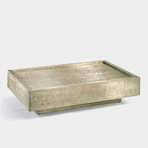 Lambert Tresor Couchtisch Weißmetall 130X80 H30,5Cm