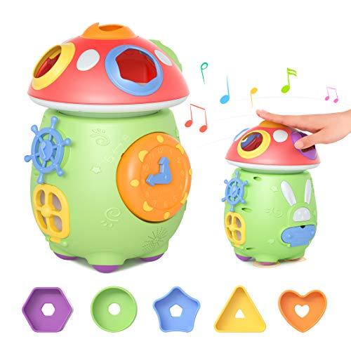 Tumama Juguete Musical Bebe,Música Cubo de Actividades,Juguetes Musicales Instrumentos,Juguetes educativos con luz de Sonido Regalo para bebés Niños 3meses,6 Meses,12 Meses,1 Año 2 Años