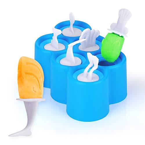 KATELUO eisform,eis am stiel formen, Eisform für Kinder Eiszubereiter, Wird zur Herstellung von Eis, DIY, Joghurt usw. verwendet.