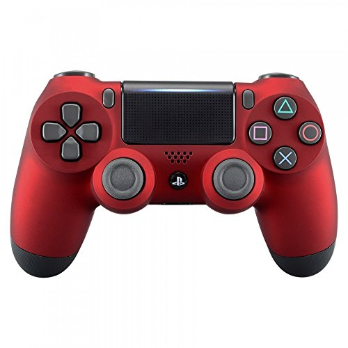 eXtremeRate Soft Touch Grip Red Front Housing Shell Faceplate for Playstation 4 PS4 Slim PS4 Pro...